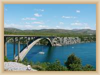 Bridge accross river Krka by Šibenik
