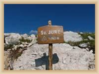 The top of mountain Sveti Jure